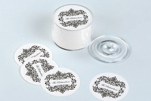 Filigree Personalized Coasters