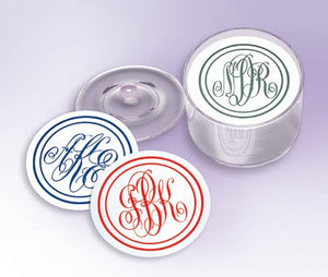 Monogram Party Coasters