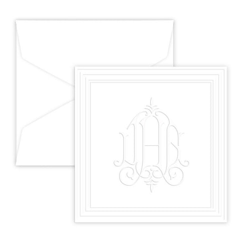 Henley Framed Portrait Embossed Gift Enclosure Card