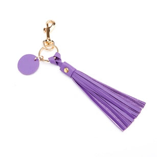 Leather Tassel Key Fob