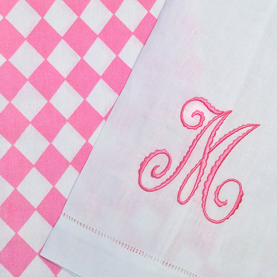 On Wednesday's We Monogram with PINK!