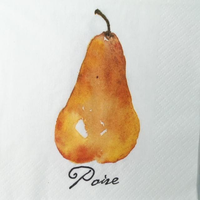 Pear Beverage Napkin
