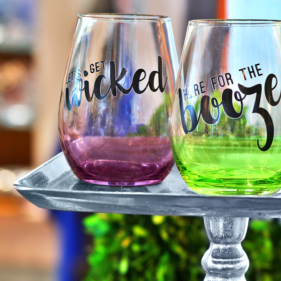 Halloween Stemless Wine Glasses