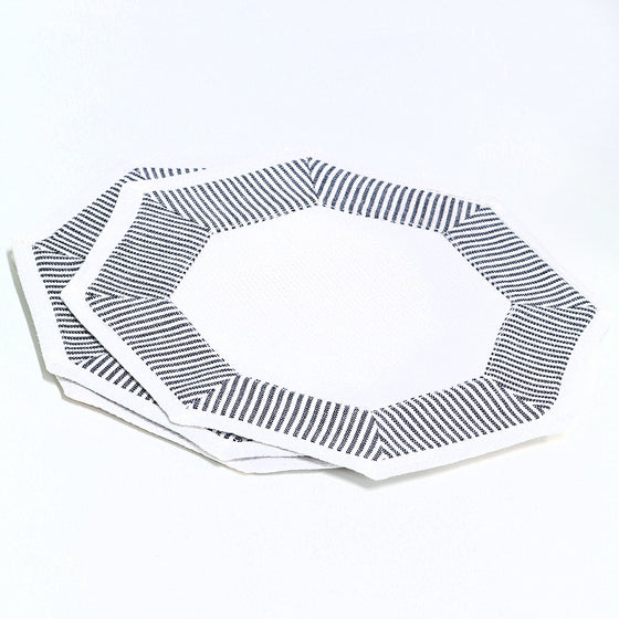 Patterned Octagon Cocktail Napkins