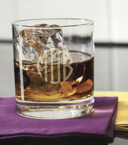 Monogrammed Casual Whiskey Glasses