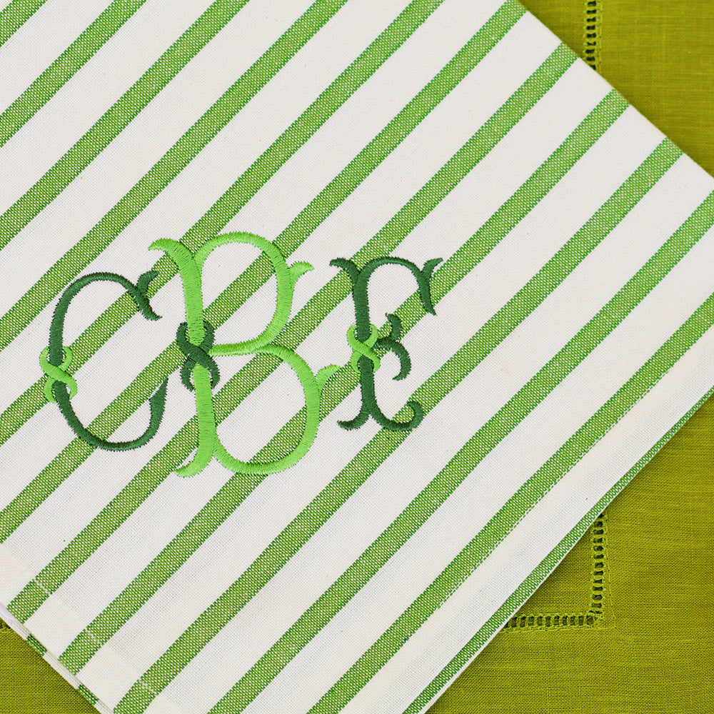 Lime Striped Design Napkin