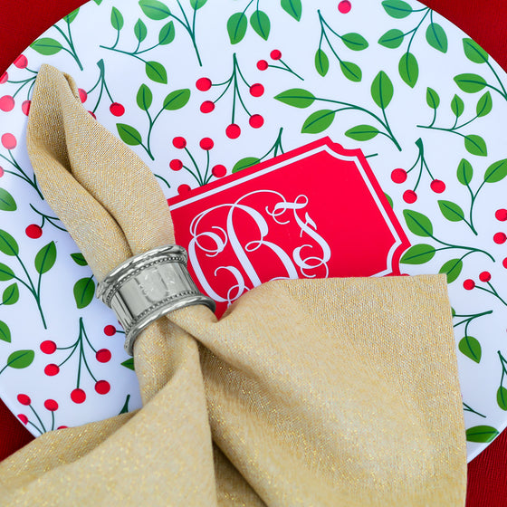 A Mistletoe Kiss with Monogrammed Bliss