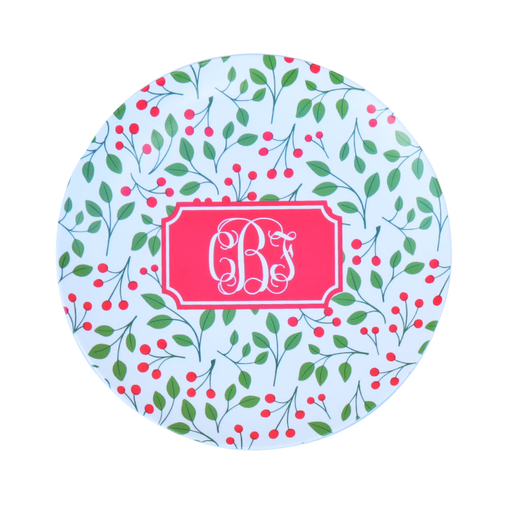 Mistletoe Melamine Plate  sc 1 st  The Monogram Merchant & The Monogram Merchant | Mistletoe Melamine Plate