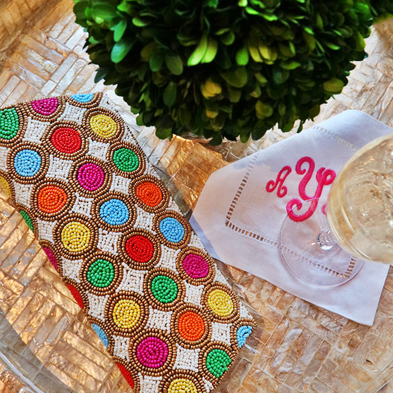 Beaded Circle Clutch