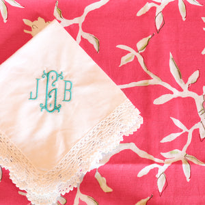 Fancy Crochet Lace Hankerchief