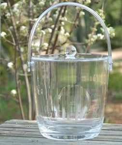 Monogrammed Large Acrylic Ice Bucket