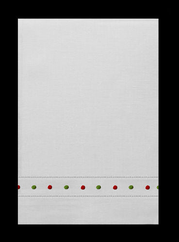 Red & Green Swiss Dot Guest Towels