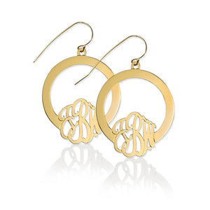 Hoop Earrings with Monogram