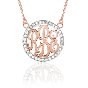 Gold & Diamond Monogram Necklace