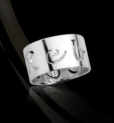 Sterling Silver Pierced Band