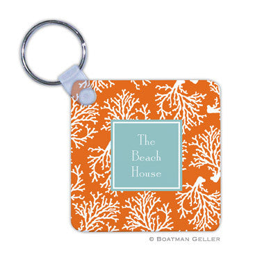 Coral Repeat Key Chain