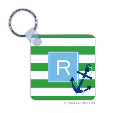 Stripe Anchor Key Chain