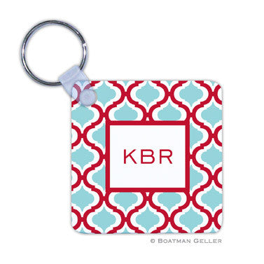 Kate Red & Teal Key Chain