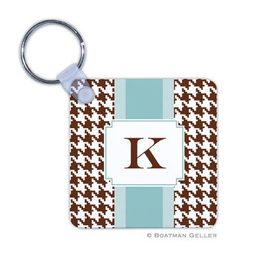 Alex Houndstooth Chocolate Key Chain