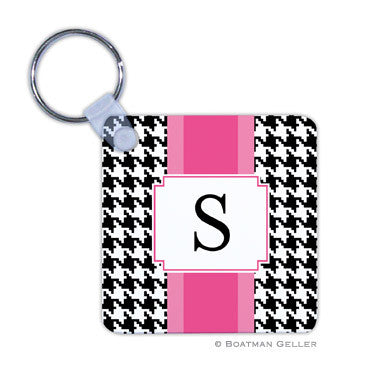 Alex Houndstooth Black Key Chain