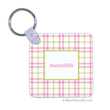 Miller Check Pink & Green Key Chain