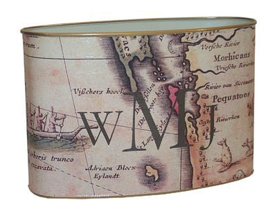 New England Map Letter Box