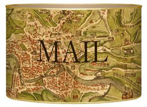 Antique Rome Map Letter Box
