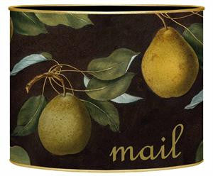 Pears on Brown Letter Box