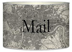 Antique London Map Letter Box