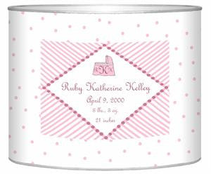 Baby Bin Pink Dots Letter Box