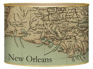 Louisiana Coast Antique Map Letter Box