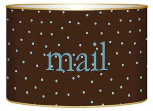Brown & Blue Tiny Dots Letter Box