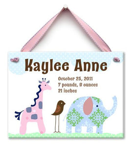 Personalized Safari Friends Wall Tile