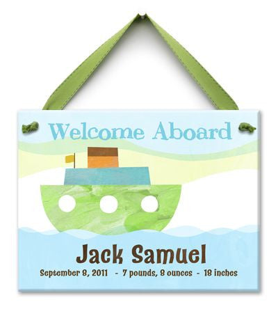 Personalized Welcome Aboard Wall Tile