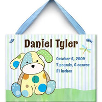 Personalized Precious Boy Pup Wall Tile
