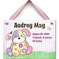 Personalized Precious Girl Pup Wall Tile