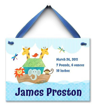 Personalized Noah's Ark Wall Tile