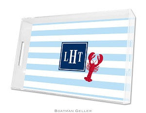 Stripe Lobster Lucite Tray