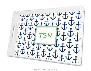Anchors Navy Lucite Tray