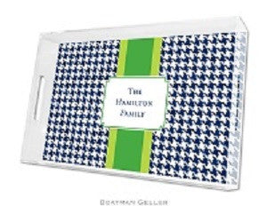 Alex Houndstooth Navy Lucite Tray