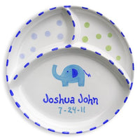 Personalized Divided Elephant Plate