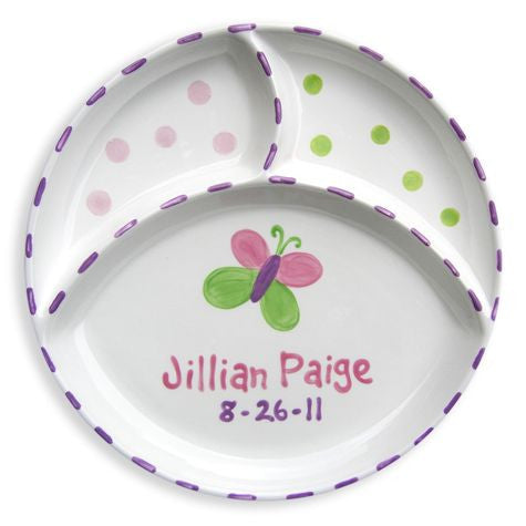 Personalized Divided Butterfly Plate