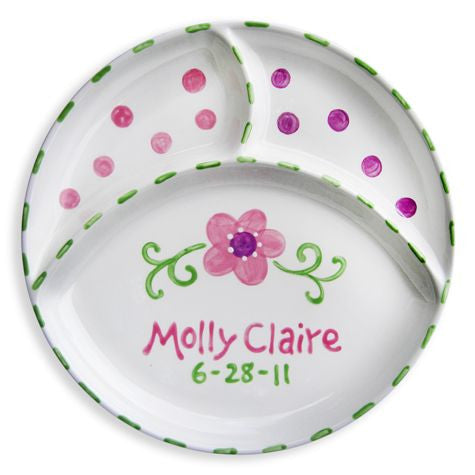 Personalized Divided Flower Plate
