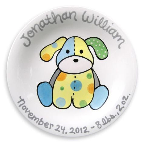 Personalized Precious Pup Plate (Boy)