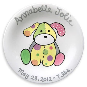 Personalized Precious Pup Plate (Girl)