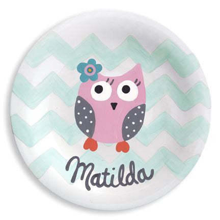 Personalized I'm a Hoot Plate