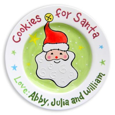 Personalized Cookies for Santa Plate