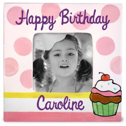 Personalized Cupcake Kid Picture Frame