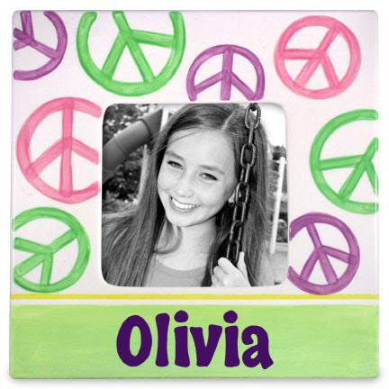 Personalized Peace Picture Frame