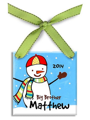 Personalized Big Brother Snowman Ornament